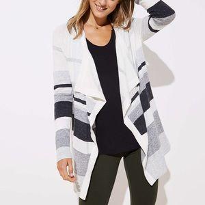 LOFT Striped Cardigan